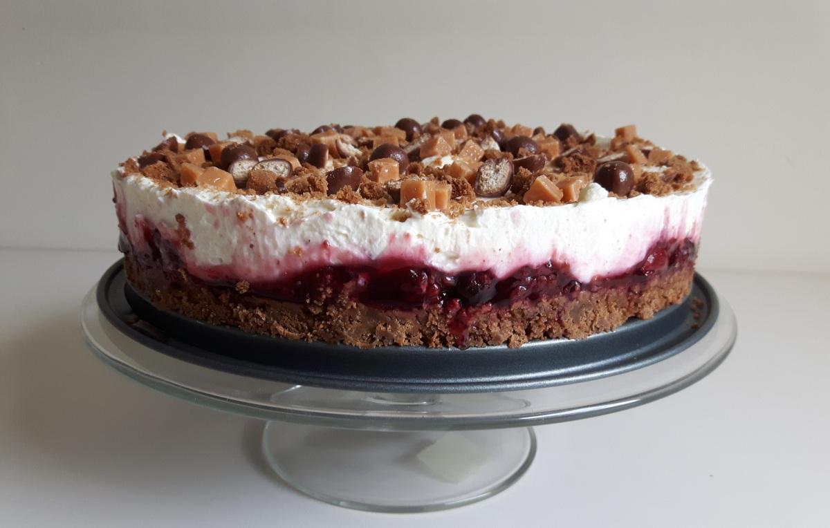 Recept | Bosvruchtencheesecake met bastogne & caramel